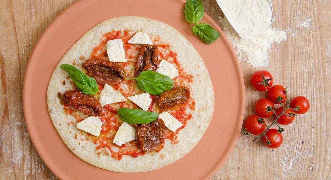 Pizza di piadina al Kamut